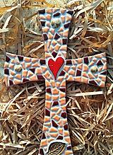 Dekorácie - Kríž jesenný - 8825792_