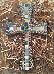 Dekorácie - Kríž zlato-mramorový - 8825875_