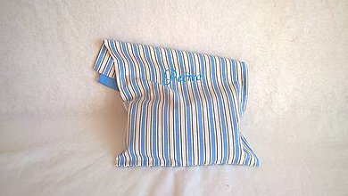 Úžitkový textil - Prírodné bavlnené vrecko na chlebík - 49x33 cm - 8823406_