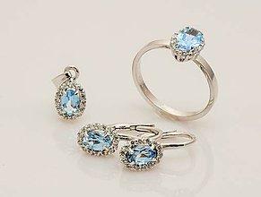 Sady šperkov - Sada šperkov s oválnym zirkónom (Priehľadná) - 8822809_