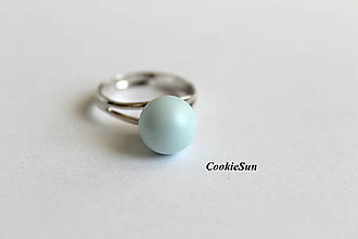 Prstene - Prsteň Swarovski PearIs Pastel Blue Rh - 8826755_