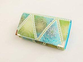 Peňaženky - Mandaly v abstrakci-17 cm na spoustu karet jen-1ks - 8827911_