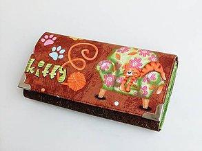 Peňaženky - Není jak kočičkám :-) - 18 cm na spoustu karet - 8827934_