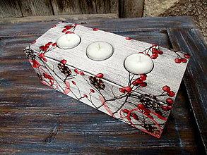 Svietidlá a sviečky - Drevený svietnik - 8824049_