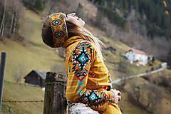 Ozdoby do vlasov - Navajo tribal winter - termo čelenka - 8827780_