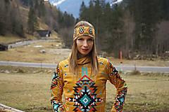 Ozdoby do vlasov - Navajo tribal winter - termo čelenka - 8827781_