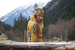 Ozdoby do vlasov - Navajo tribal winter - termo čelenka - 8827782_