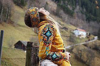 Ozdoby do vlasov - Navajo tribal winter - čelenka - 8827780_