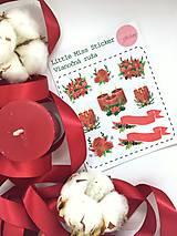 Drobnosti - Vianočná ruža (nálepky) - 8826947_
