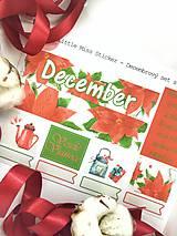 Drobnosti - Decembrový set nálepiek - 8827007_