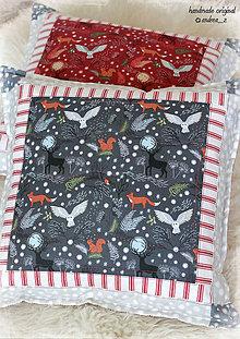 """Úžitkový textil - vankúš """"countryside winter"""" sivý - 8826167_"""