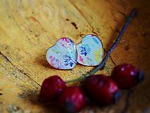 Náušnice - Náušničky s farebnými odtlačkami rastin - 8824959_