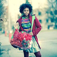 Veľké tašky - Origo taškoš samé kvety - 8827853_