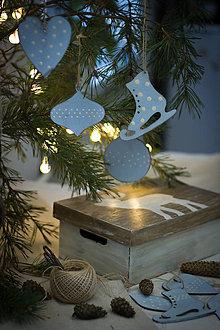 Dekorácie - Modrasté Vianoce - 8827090_