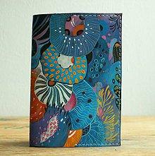 Peňaženky - Blue Lagoon - kožená dokladovka/obal na cestovní pas - 8827658_