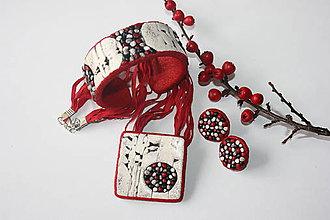 Sady šperkov - Kamienky v stene červené - 8824499_