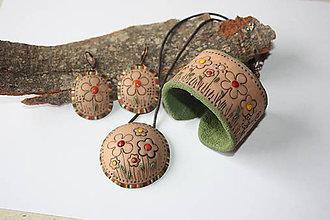 Sady šperkov - Rozkvitnutá lúka béžovo-zelená - 8824568_