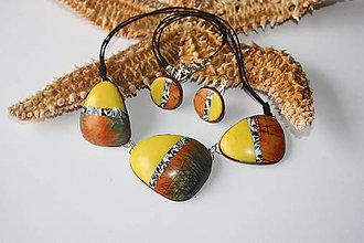 Sady šperkov - Žlto-oranžové variácie - 8824637_