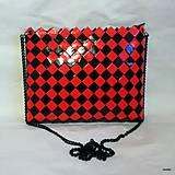 Kabelky - červeno čierna kabelka - 8826895_