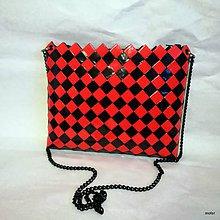 Kabelky - červeno čierna kabelka - 8826901_
