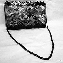 Kabelky - sivo čierna kabelka - 8827002_