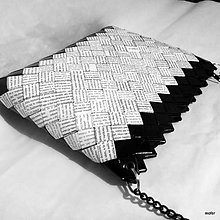 Kabelky - novinovo čierna kabelka - 8827081_