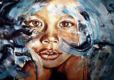 - Dievča v modrom, limitovaná séria výtlačkov (40 x 30 cm) - 8823643_