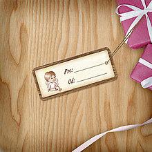 Papiernictvo - Vianočná menovka(vintage) - anjelik - 8828288_