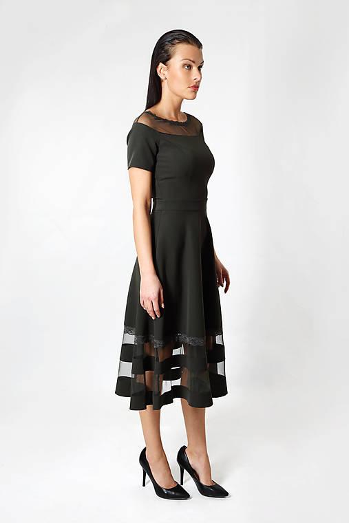 231d00e5ce04 Zelené šaty čipka   ceccilia - SAShE.sk - Handmade Šaty