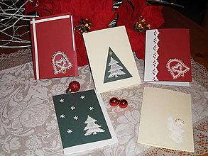 Papiernictvo - Vianočné pozdravy - set - 8833549_