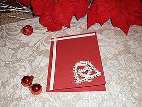 Papiernictvo - Vianočná pohľadnica so zvončekom - 8833617_