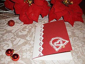 Papiernictvo - Vianočná pohľadnica so zvončekom 2 - 8833741_