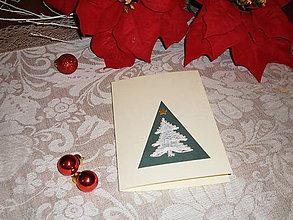 Papiernictvo - Vianočná pohľadnica so stromčekom - 8833774_