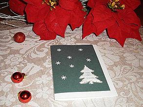 Papiernictvo - Vianočná pohľadnica so stromčekom 2 - 8833807_