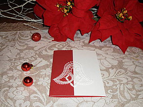 Papiernictvo - Vianočná pohľadnica so zvončekom 3 - 8833883_