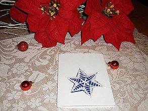Papiernictvo - Vianočná pohľadnica s hviezdou - 8833898_