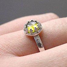 Prstene - Elegant Vintage Peridot Ring Silver Ag 925 / Elegantný jemný strieborný prsteň s olivínom - 8830462_