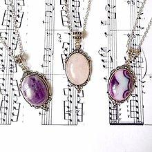 Náhrdelníky - Antique Gemstone Necklaces / Náhrdelníky s minerálmi vo vintage štýle - 8831670_