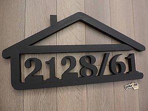 Dekorácie - Súpisné čísla v domčeku - 8829209_