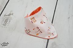 Detské doplnky - Nákrčník oranžový macko + minky orange - 8829202_