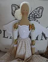 Bábiky - Béžová s ružičkami - 8831163_