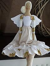Bábiky - Béžová s ružičkami - 8831165_