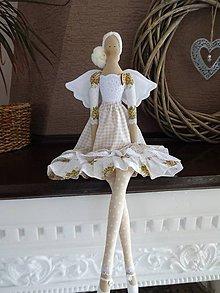 Bábiky - Béžová s ružičkami - 8831155_