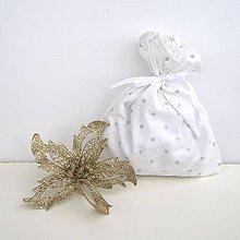 Úžitkový textil - Vianočné darčekové vrecúško - 8831745_