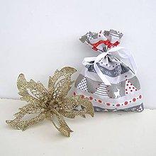 Úžitkový textil - Vianočné darčekové vrecúško - 8831845_