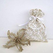Úžitkový textil - Vianočné darčekové vrecúško - 8831948_