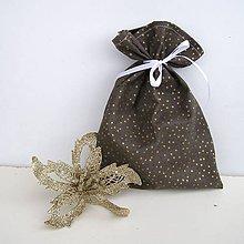 Úžitkový textil - Vianočné darčekové vrecúško - 8832382_