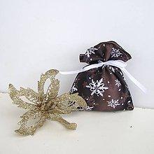 Úžitkový textil - Vianočné darčekové vrecúško - 8832434_