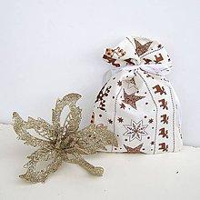 Úžitkový textil - Vianočné darčekové vrecúško 2ks - 8832613_