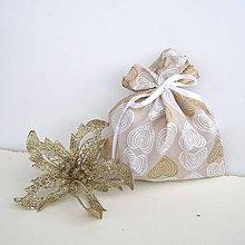 Úžitkový textil - Vianočné darčekové vrecúško - 8833118_